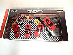 Burago 1:43 Scale Die-cast Ferrari Race & Play Set of Four C