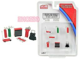 AMERICAN DIORAMA 1/64 SHOP TOOLS SET ACCESSORIES FOR MECHANI