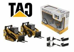 CAT 1:64 Skid Steer Loader & Compact Track Loader with acces