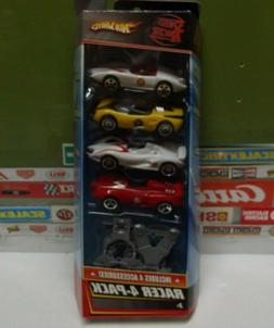 HOT WHEELS 1:64 SPEED RACER 4 CAR PACK WITH ACCESSORIES M455