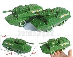 2 pcs Military Armored Vehicle Car 17cm Models Toy Soldier A