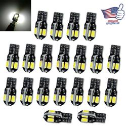 20X Canbus T10 194 168 W5W 5730 8 LED SMD White Car Side Wed