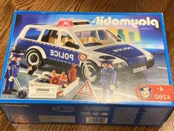 Playmobil 4260 Police Patrol Car with Police Officers and Ac