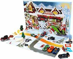 Advent Calendar 24 Day Holiday Surprises w/Cars and Accessor