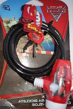 BICYCLE LOCK DISNEY PIXAR CARS