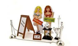 Kinsfun Car Show Trophy Set Accessories Garage For 1:24 Dica