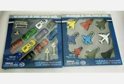 Die Cast Jets And Cars Kids Play Set Metal Vehicles With Acc
