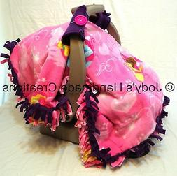 DISNEY PRINCESS/ PURPLE FLEECE INFANT/ BABY CAR SEAT CANOPY/