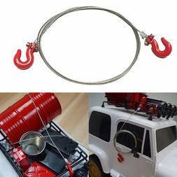 JQ_ KQ_ RC Car Crawler Accessories Metal Tow Rope Hook for 1