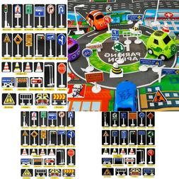 Kids Children 28 Pcs Car Toy Accessories Traffic Road Signs