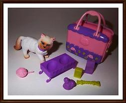 Kitty & Carrier W/ - Accessories By Mattel - For Barbie New