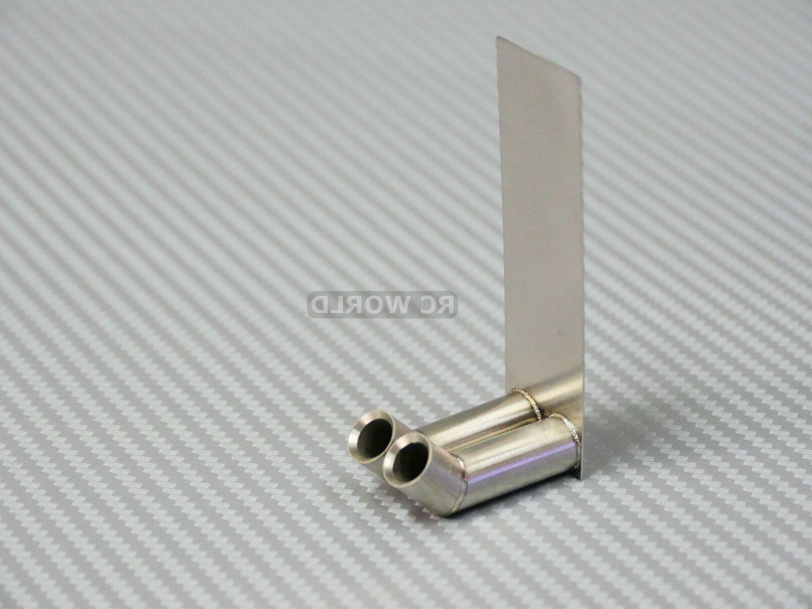 1/10 RC Twin METAL Scale Muffler For Body Accessories
