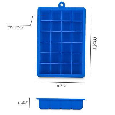 24 Grids Silicone Ice Maker Tray
