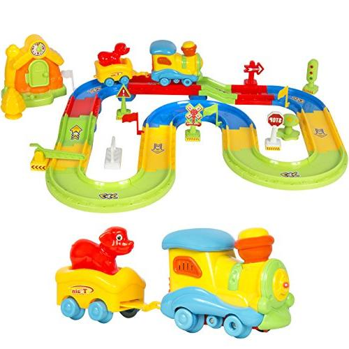 Best Choice Products Kids Toy Deluxe Electric Train Set