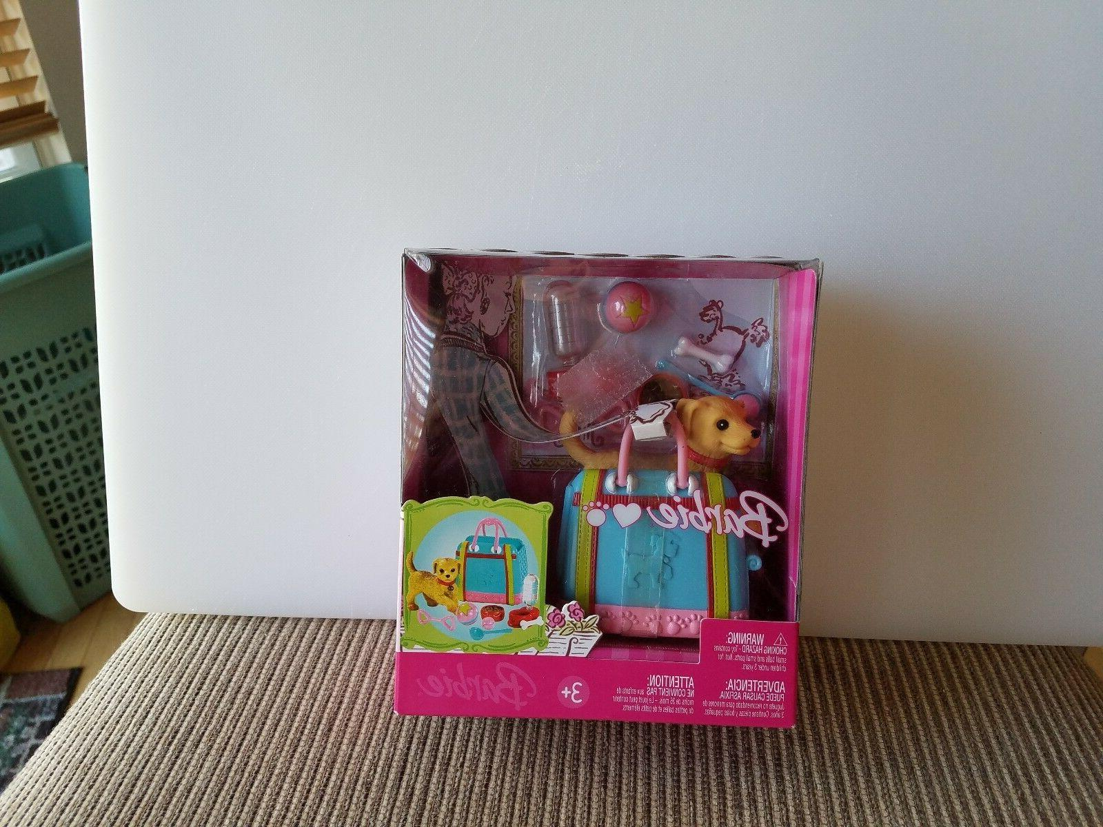 barbie chic dog carrier with dog