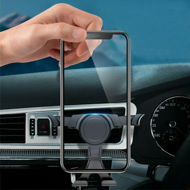 Gravity Phone Holder Air Vent Outlet Clamp Mount Stand Car