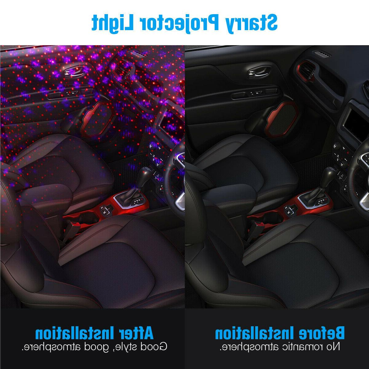 USB Car Accessories Atmosphere Ambient Star Night
