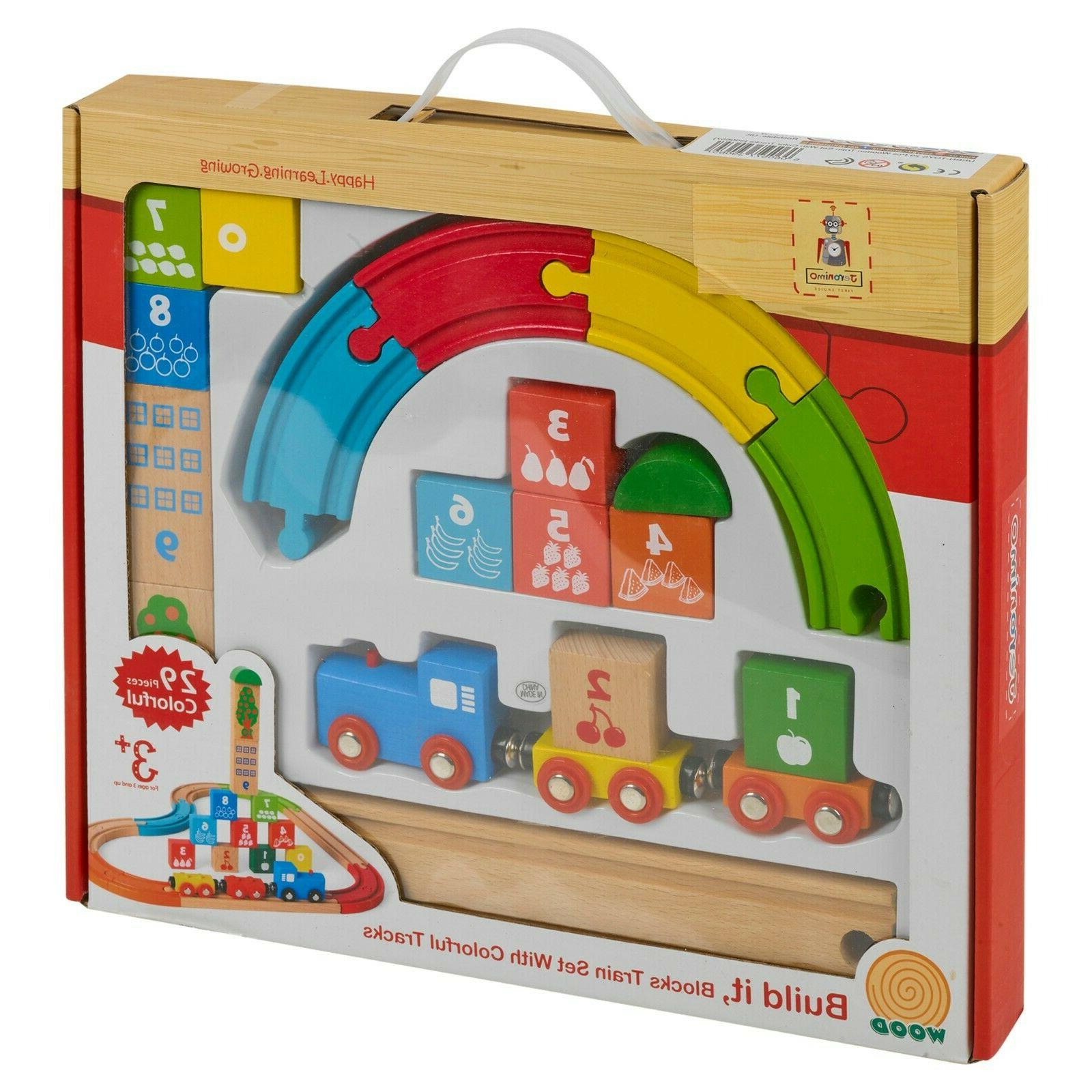 My First Wooden Kids Train Set Track Compatible