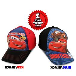 Disney Little Boys Cars Cotton Baseball Cap, 2 Piece Variety
