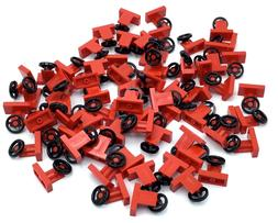 LEGO LOT OF NEW RED STEERING WHEEL PIECES CAR PARTS VEHICLE