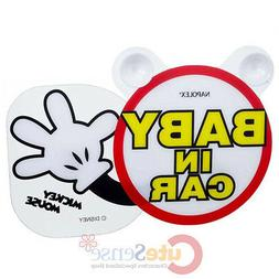 Disney Mickey Mouse Baby in the Car Safety Sign Swing Hand A