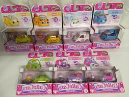 NEW! Lot of 7 Shopkins Cutie Cars With Mini Shopkins Accesso
