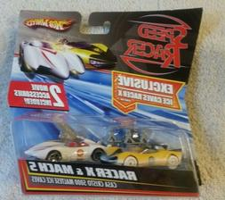 Hot Wheels Speed Racer Racer X & Mach 5 2 car set with movie