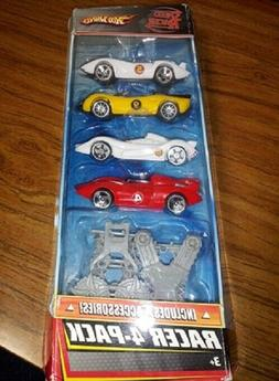 SPEED RACER HOT WHEELS SET OF 4 CARS AND ACCESSORIES
