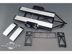 Tandem Car Trailer with Tire Rack Black 1/18 by GMP 18820