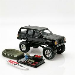 XCarToys 1:64 Jeep Cherokee 2nd black off road car w/accesso